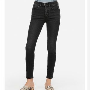 Express High Waisted Faded Black Jean Leggings